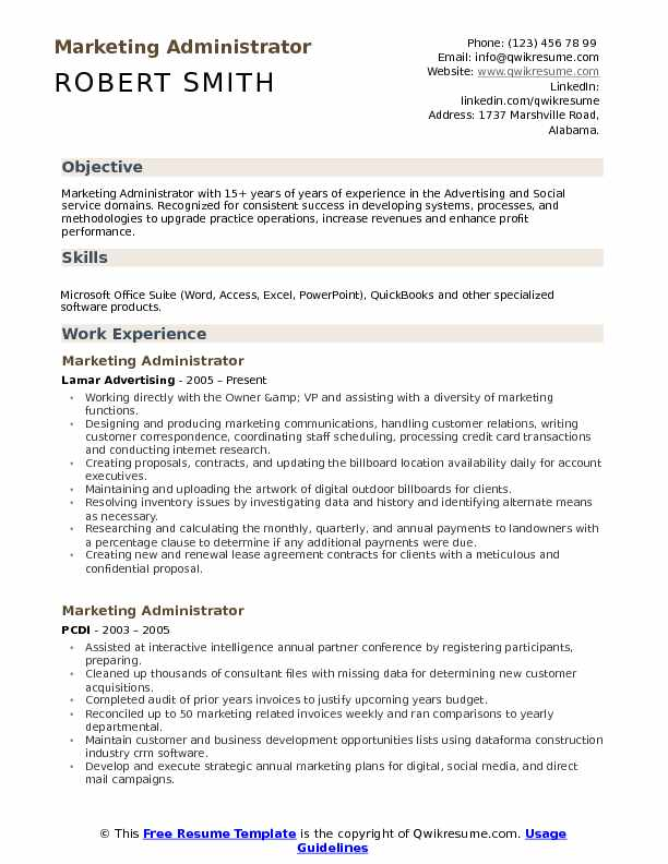 marketing administrator resume samples qwikresume skill set pdf entry level cna objective Resume Marketing Skill Set Resume