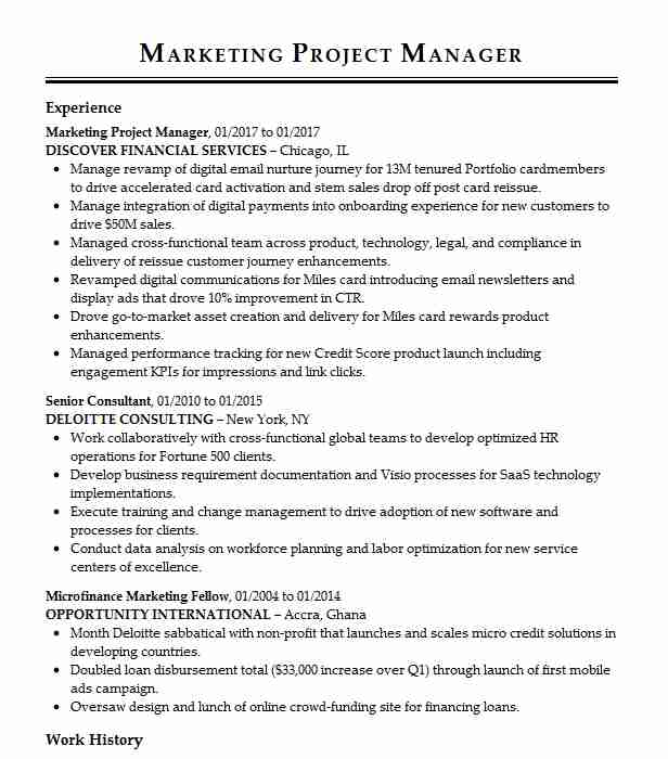 marketing project manager resume example brc design and print gilbert digital combat Resume Digital Marketing Project Manager Resume