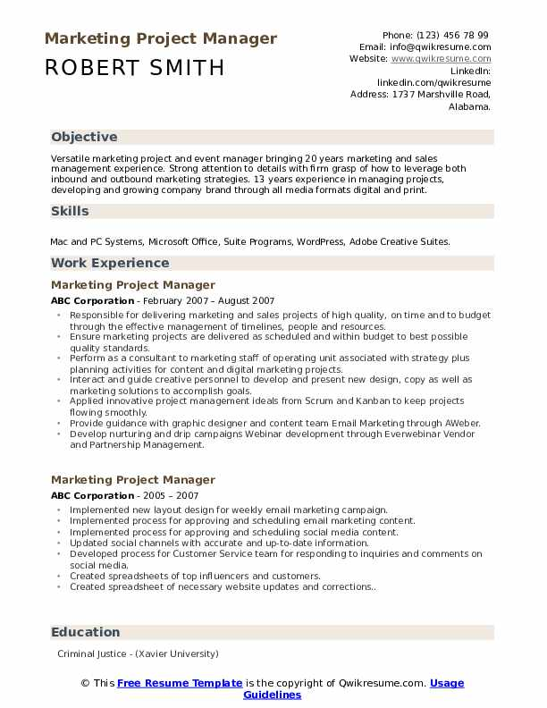 marketing project manager resume samples qwikresume digital pdf security job description Resume Digital Marketing Project Manager Resume