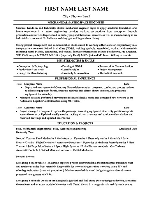 mechanical aerospace engineer resume template premium samples example review tips for Resume Aerospace Engineer Resume