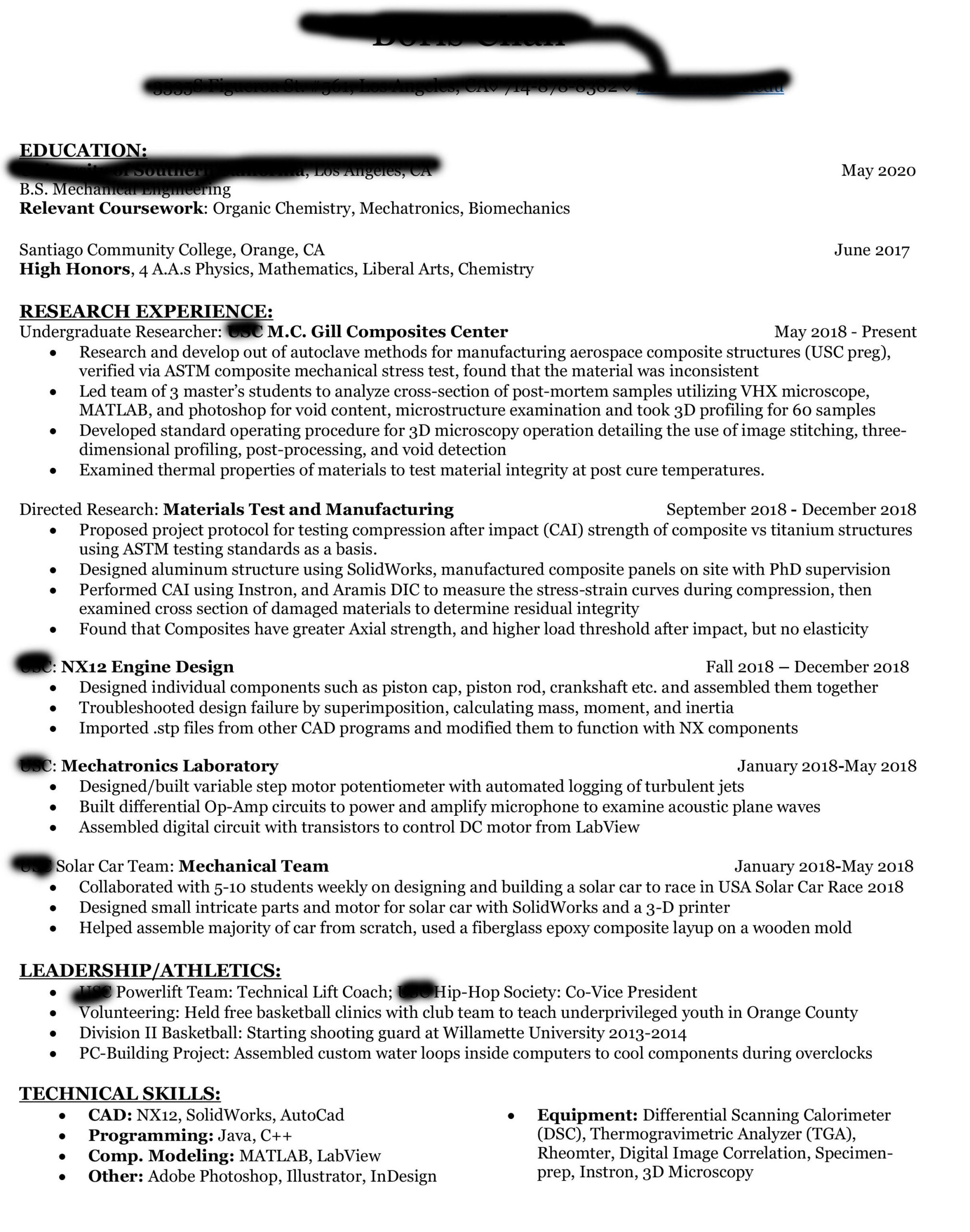 mechanical engineer student resume software intern reddit 82qzwhitntk21 sender objective Resume Software Engineer Intern Resume Reddit