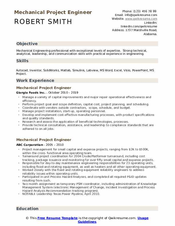 mechanical project engineer resume samples qwikresume best summary for pdf free indeed Resume Best Summary For Mechanical Engineer Resume