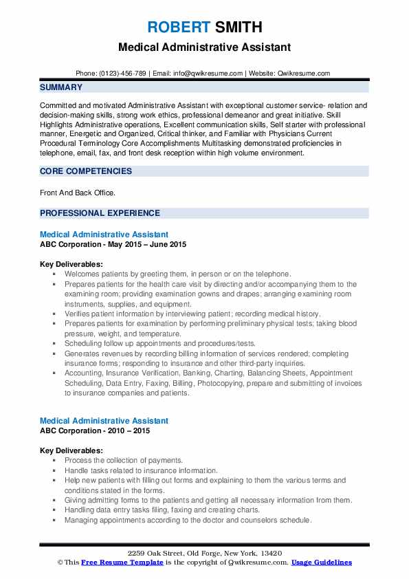 medical administrative assistant resume samples qwikresume healthcare pdf puppet linux Resume Healthcare Administrative Assistant Resume