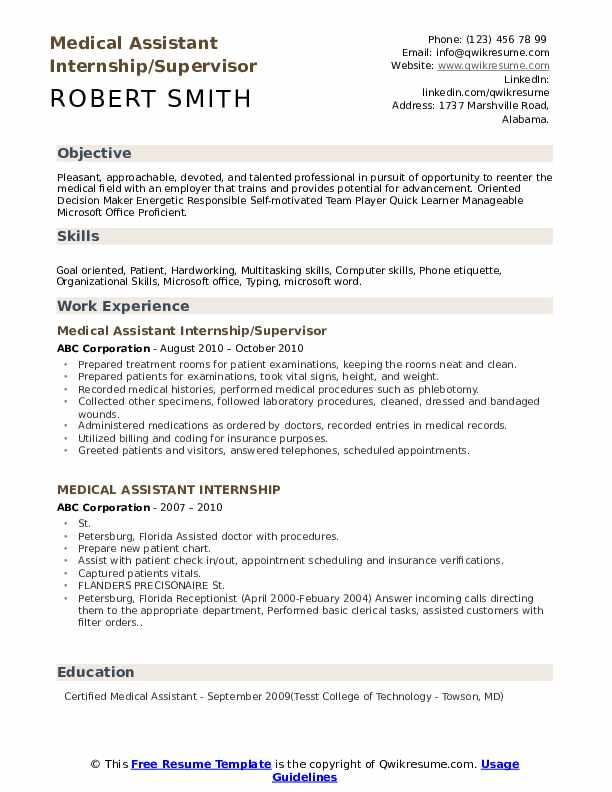 medical assistant internship resume samples qwikresume objective for student pdf best Resume Resume Objective For Medical Assistant Student