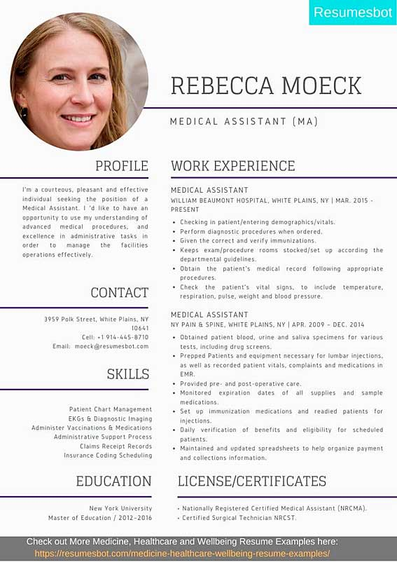 medical assistant resume samples templates pdf ma resumes bot example canva reviews Resume Medical Assistant Resume 2020
