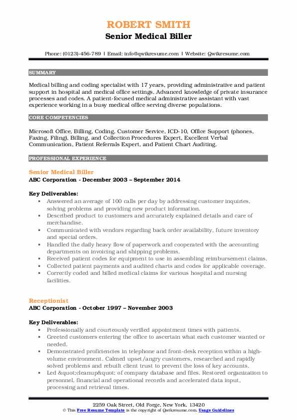 medical biller resume samples qwikresume skills for billing and coding pdf retail manager Resume Skills For Medical Billing And Coding Resume