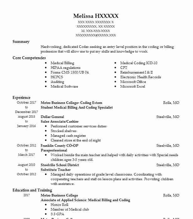 medical billing coding student resume example bakersfield adult school taft skills for Resume Skills For Medical Billing And Coding Resume