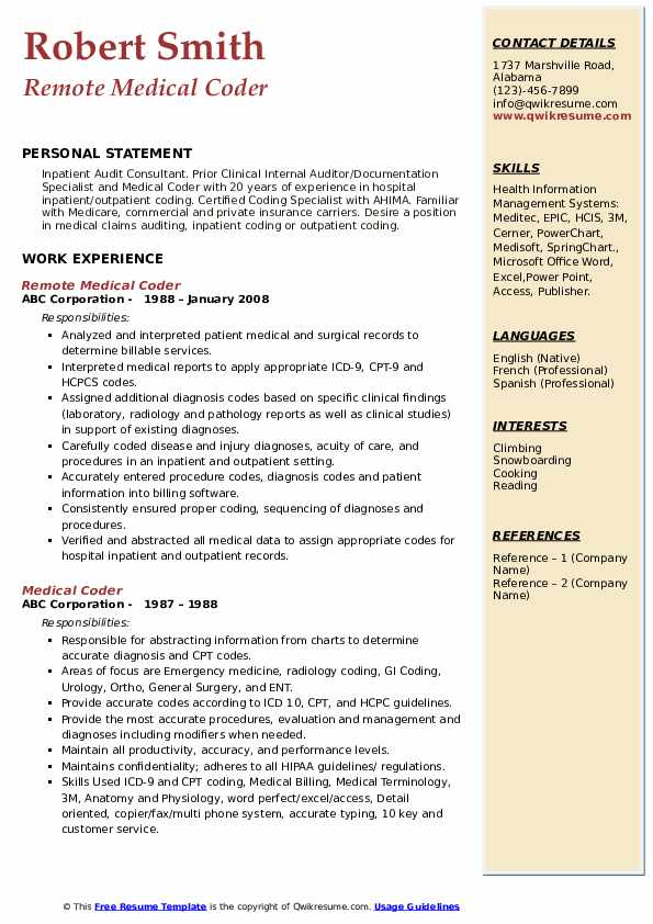 medical coder resume samples qwikresume format for coding job pdf clinic manager Resume Resume Format For Medical Coding Job