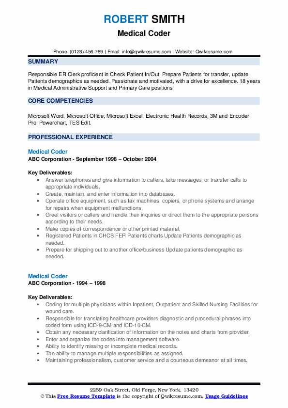 medical coder resume samples qwikresume format for coding job pdf technical training Resume Resume Format For Medical Coding Job