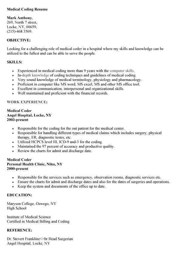 medical coding resume resumesdesign coder format for job free paralegal templates career Resume Resume Format For Medical Coding Job