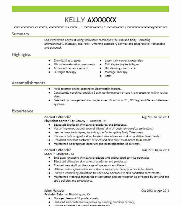 medical esthetician resume example the med spa at plastic surgery las vegas examples loan Resume Medical Esthetician Resume Examples