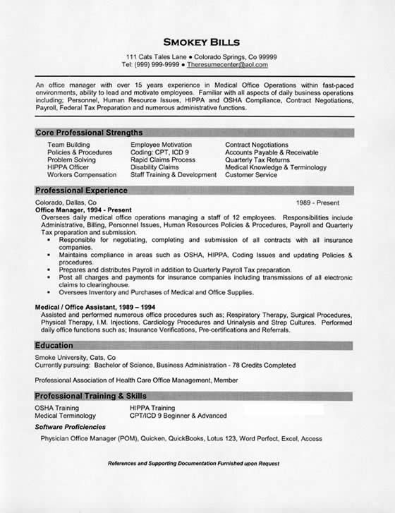medical office manager resume summary examples job description chro for voice process Resume Office Manager Resume Summary Examples