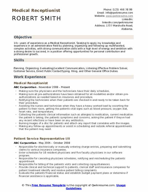 medical receptionist resume samples qwikresume examples pdf office assistant objective Resume Medical Receptionist Resume Examples