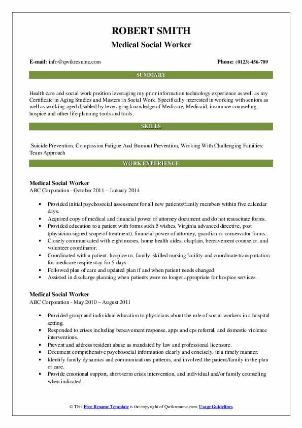 medical social worker resume samples qwikresume pdf entry level software testing for Resume Medical Social Worker Resume