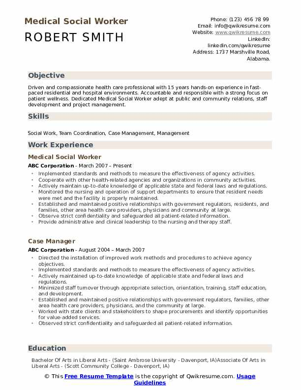 medical social worker resume samples qwikresume pdf healthcare administration best fonts Resume Medical Social Worker Resume