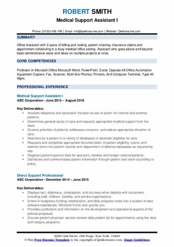 medical support assistant resume samples qwikresume examples pdf dress reel operations Resume Medical Support Assistant Resume Examples