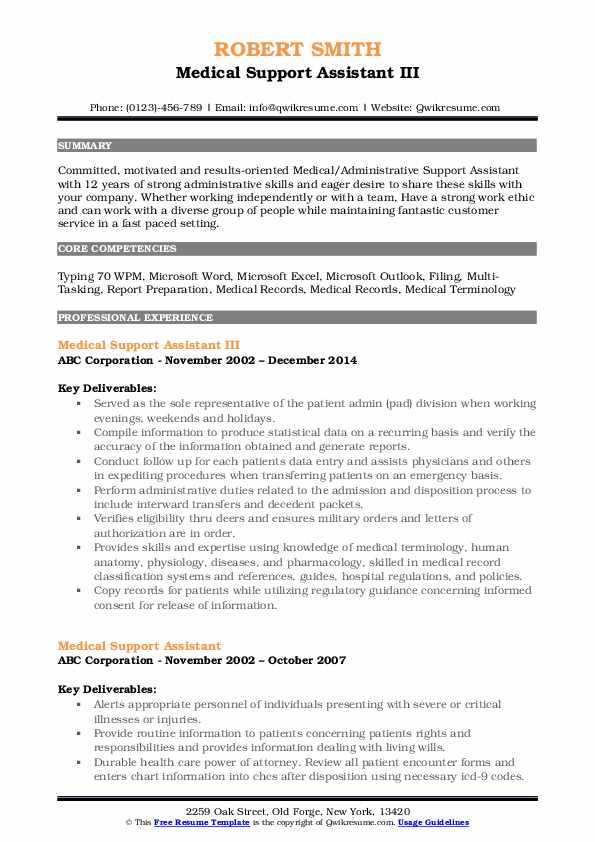 medical support assistant resume samples qwikresume examples pdf reel urban planner Resume Medical Support Assistant Resume Examples