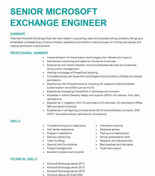 microsoft exchange administrator resume example dpdhl estero sample visual after effects Resume Microsoft Exchange Administrator Resume Sample
