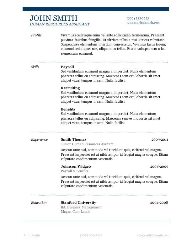 microsoft word is the clear winner among processors description free resume template best Resume Does Word Have Resume Templates