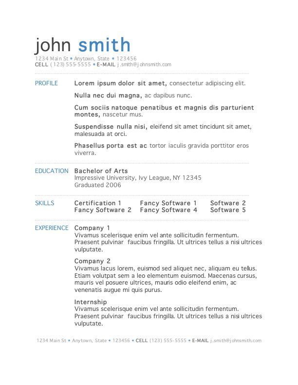 microsoft word is the clear winner among processors description from free resume template Resume Resume Template Word Simple