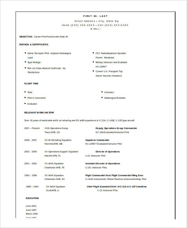 military resume free word pdf documents premium templates format for ex army pilot clean Resume Resume Format For Ex Army Person