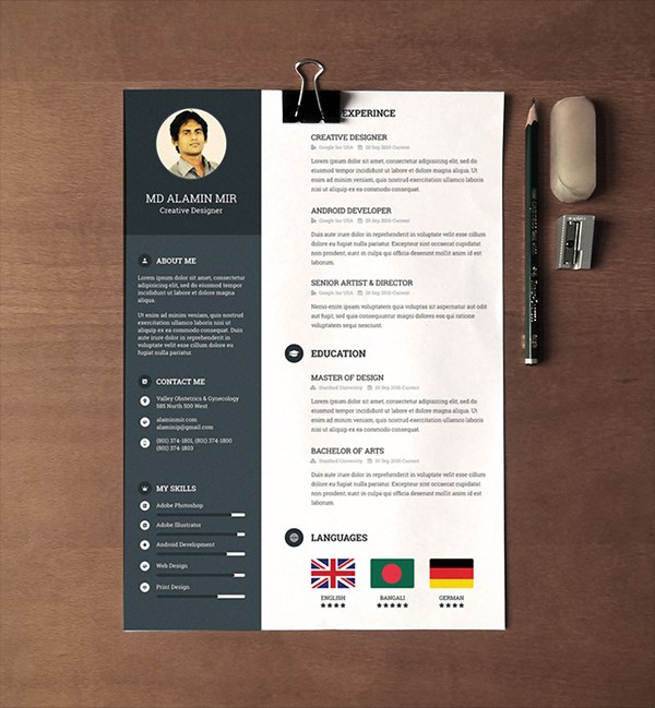 minimal creative resume templates word free premium super dev resources dynamic template Resume Free Dynamic Resume Templates