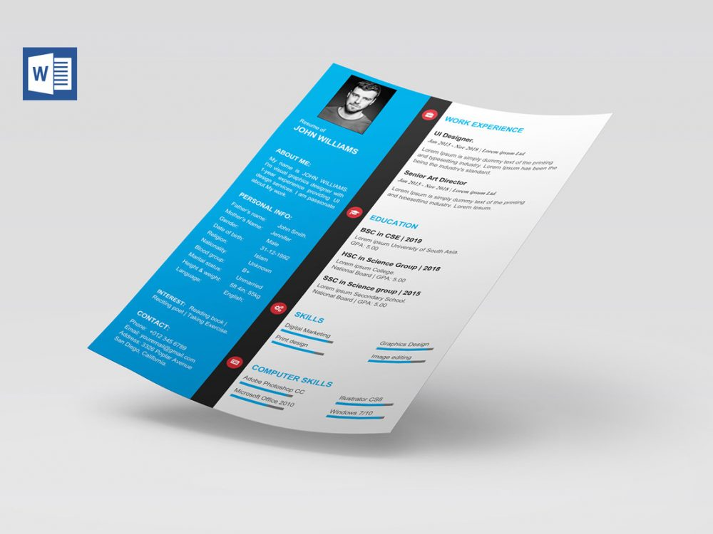 modern cv template word free resumekraft microsoft resume builder 1000x750 can make on Resume Microsoft Resume Builder Download