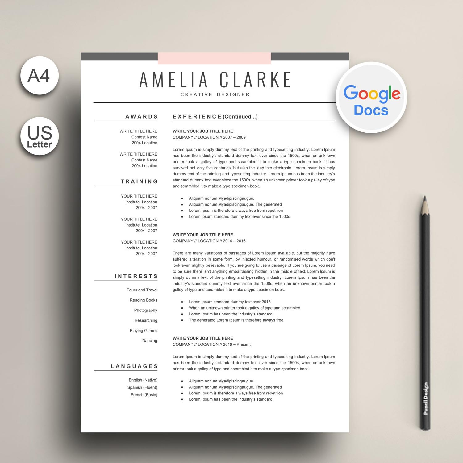 modern google docs resume template graphic worker exclusive cv free templates symantec Resume Free Google Docs Resume Templates