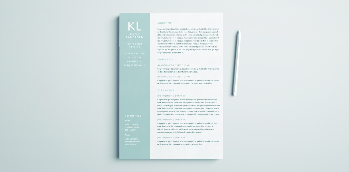 modern resume template for indesign free adobe cover unique designs invoicing job Resume Adobe Indesign Resume Template