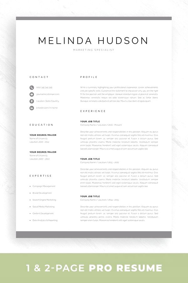 modern resume template for word mac professional etsy in design premium templates Resume Resume Template Word Mac