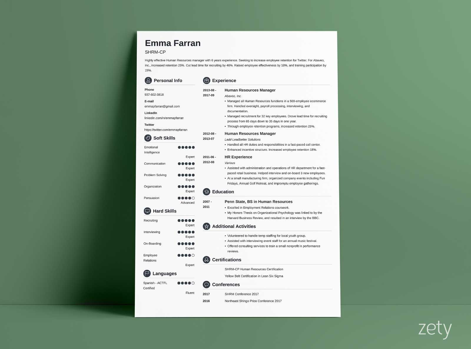 modern resume template format examples for zety builder phone number templates Resume Zety Resume Builder Phone Number