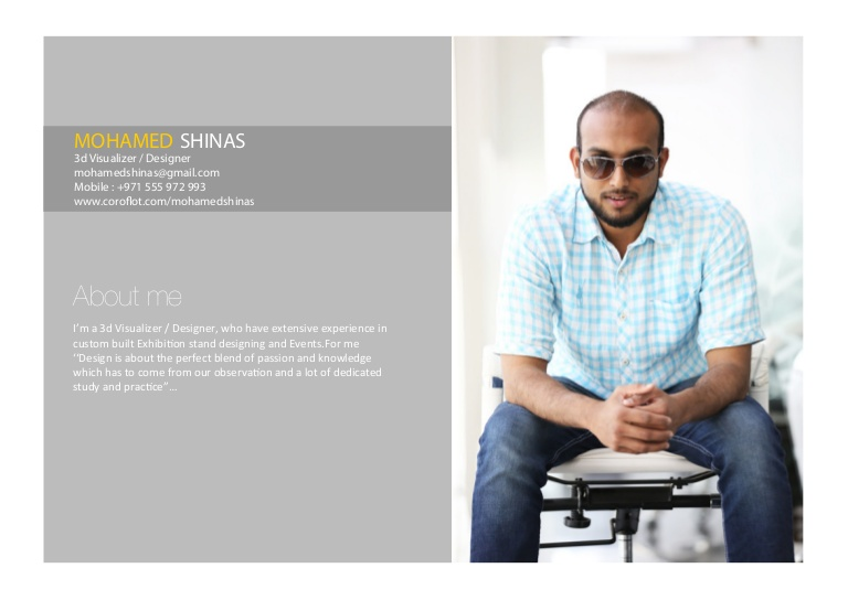 mohamed shinas resume visualizer sample mohamedshinasresume phpapp01 thumbnail copy of Resume Visualizer Resume Sample