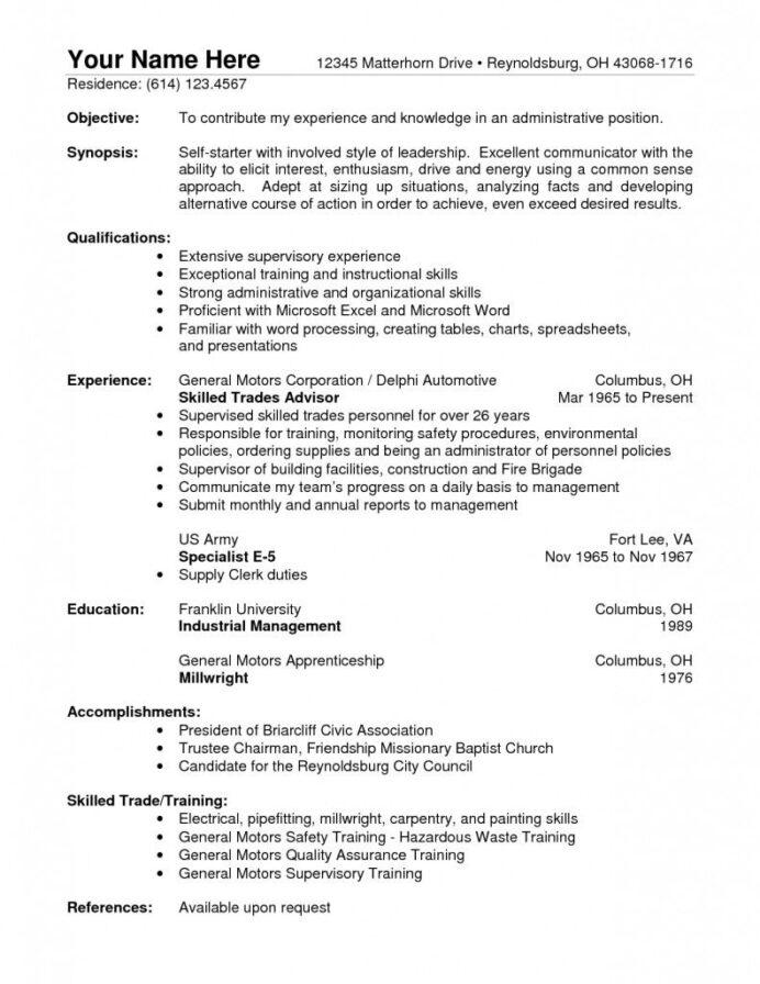 monthly archives december warehouse resume objective good professional template another Resume Sample Resume For Ojt Electrical Engineering Students