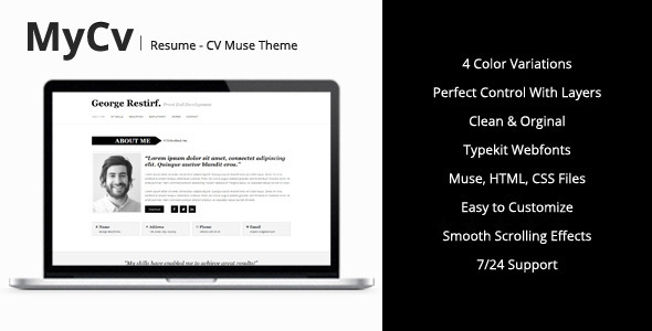 my cv resume muse template by mejora themeforest the templates preview large supply chain Resume The Muse Resume Templates