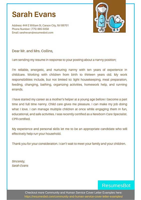 nanny cover letter samples templates pdf word letters rb for resume sample professional Resume Cover Letter For Nanny Resume