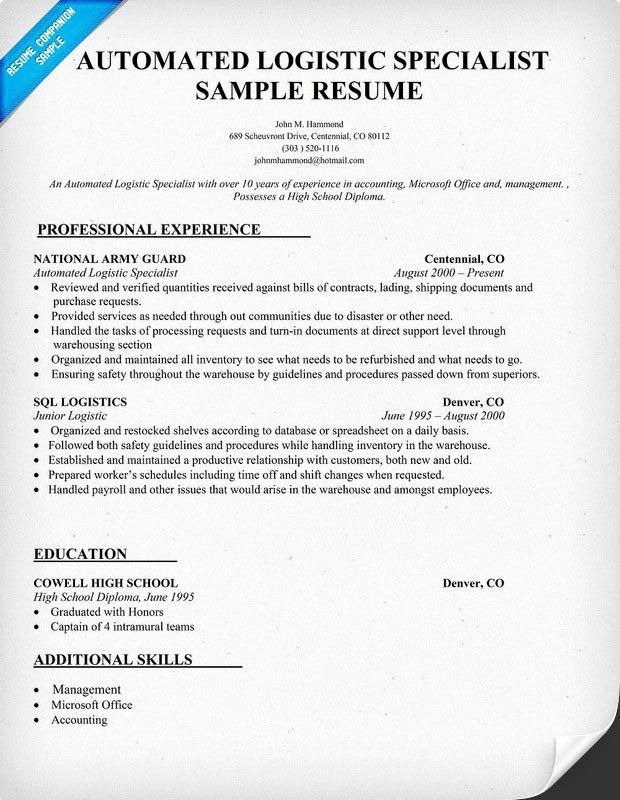 navy logistics specialist resume lovely automated logistic aromatherapy research job Resume Automated Logistical Specialist Resume