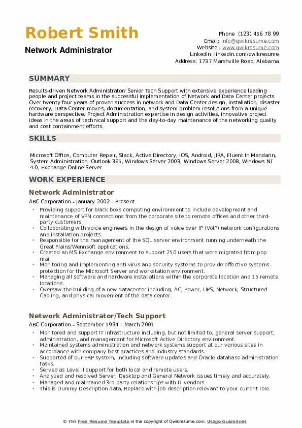 network administrator resume samples qwikresume sample for experienced pdf putting Resume Sample Resume For Experienced Network Administrator