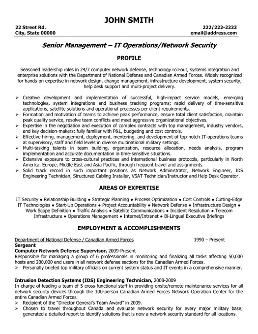 network security manager resume sample template director professional senior management Resume Security Director Resume
