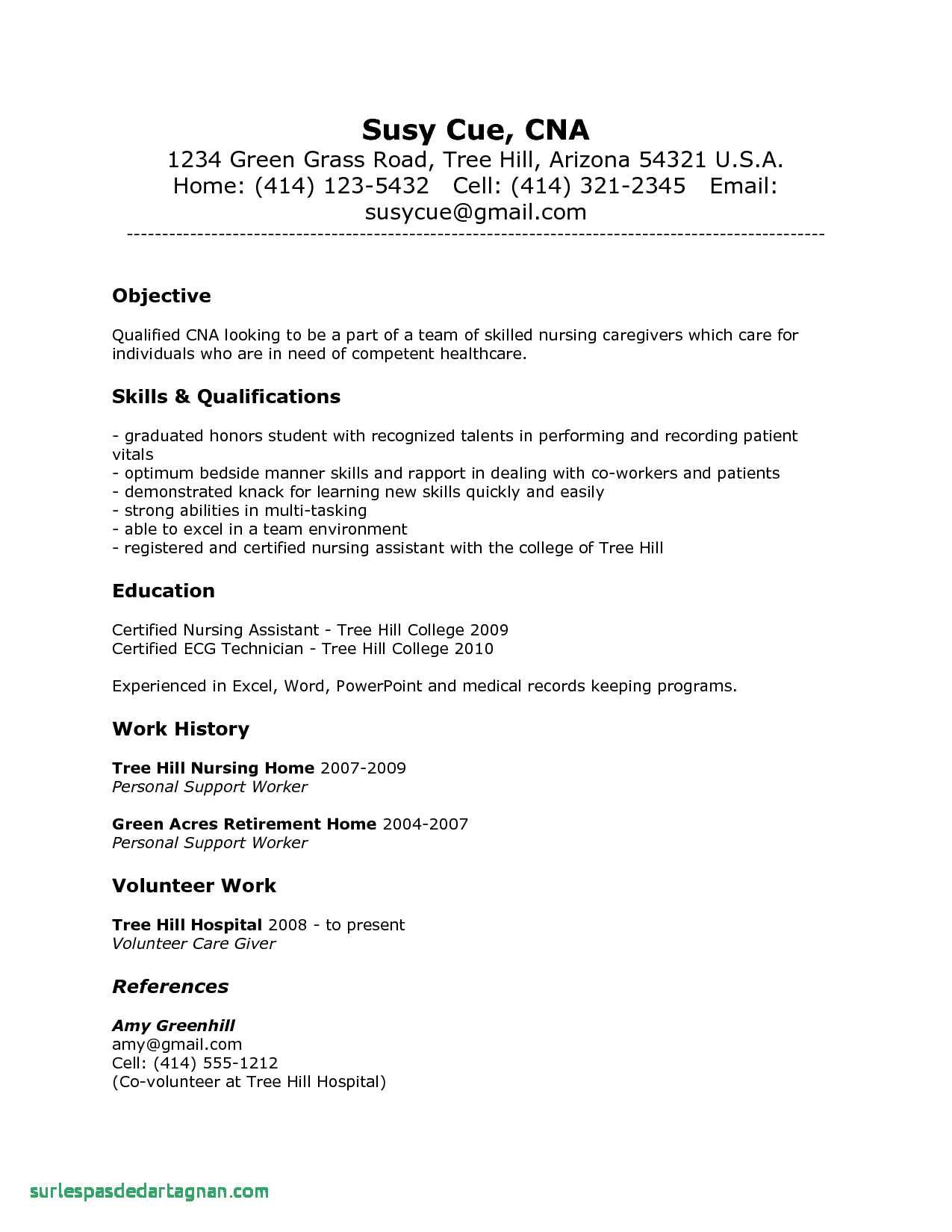 new photos of sample resume for registered nurse without experience no cover letter Resume Cna Resume Skills And Qualifications