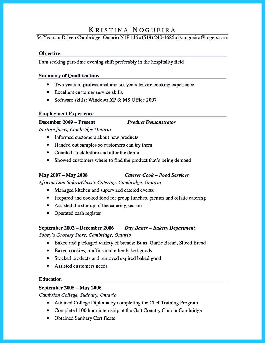 nice excellent culinary resume samples to help you approved check more at http snefci org Resume Product Demonstrator Resume