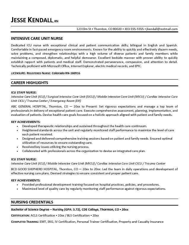 nurse resume objective project scope template career examples for senior vmware Resume Career Objective Examples For Resume Nurse