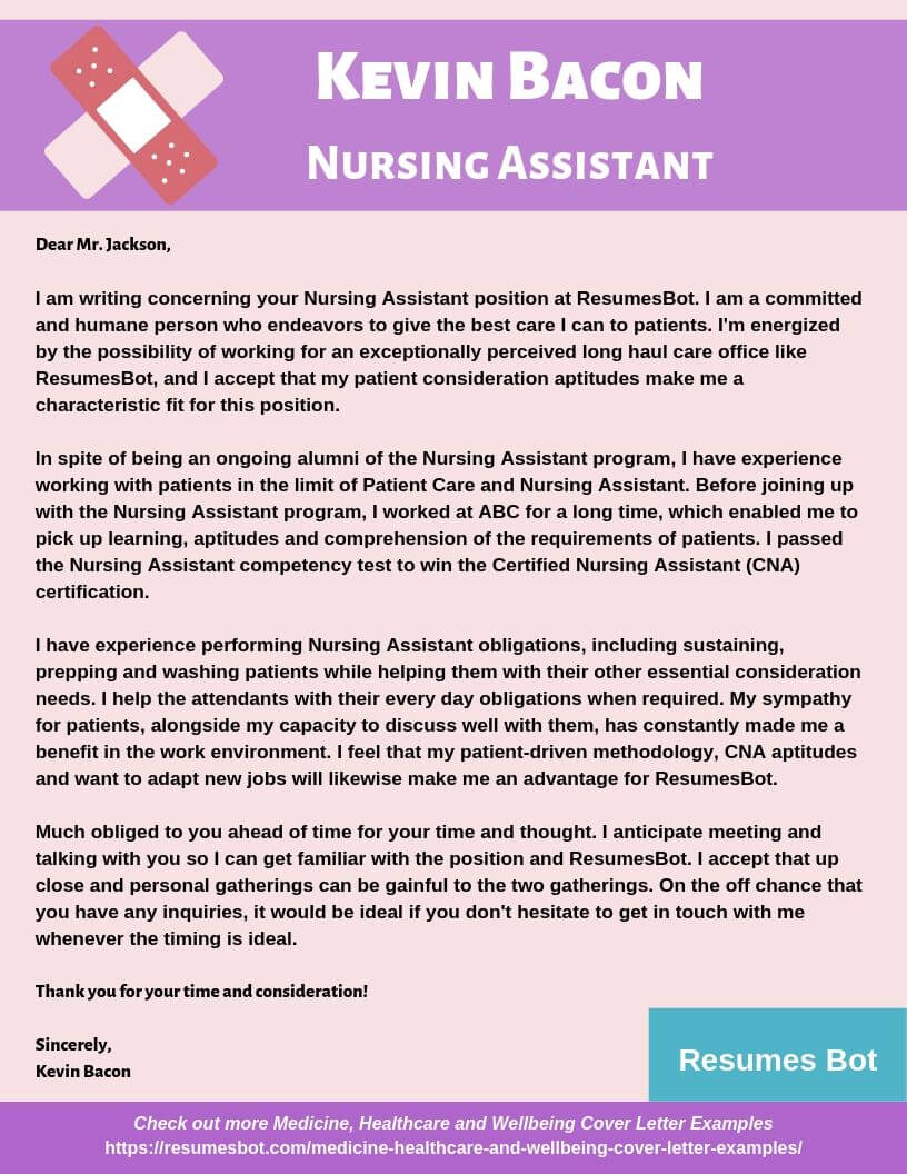 nursing assistant cover letter samples templates pdf word letters rb certified resume Resume Certified Nursing Assistant Resume Cover Letter