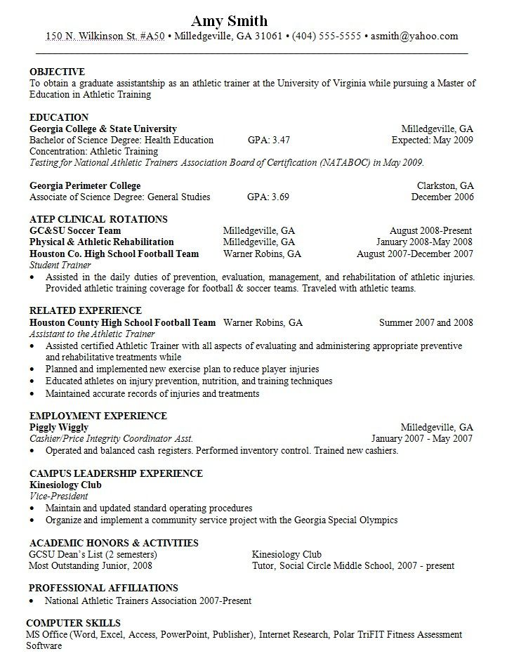 objective for resume athletic trainer http resumesdesign training skills sports need Resume Objective For Sports Resume