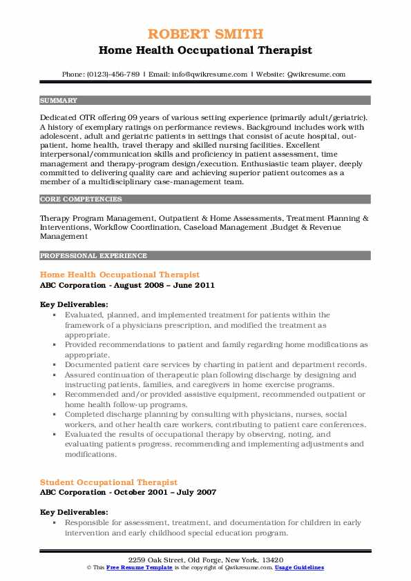 occupational therapist resume samples qwikresume examples pdf background on office Resume Resume Examples Occupational Therapist