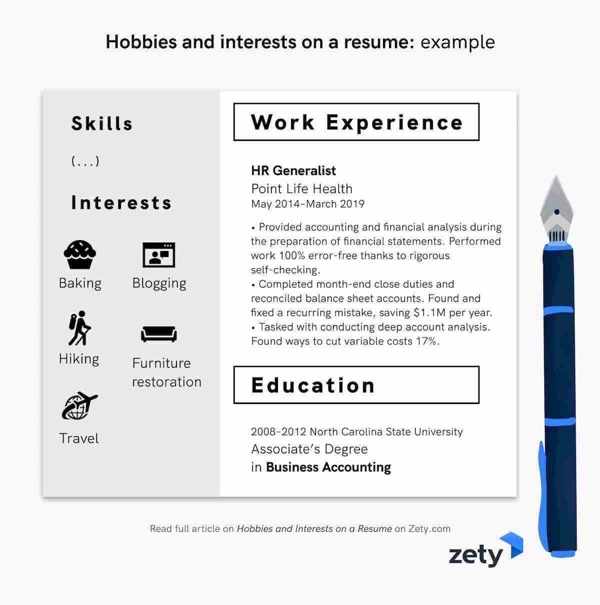 of hobbies and interests for resume cv examples another word on example european template Resume Another Word For Hobbies On Resume