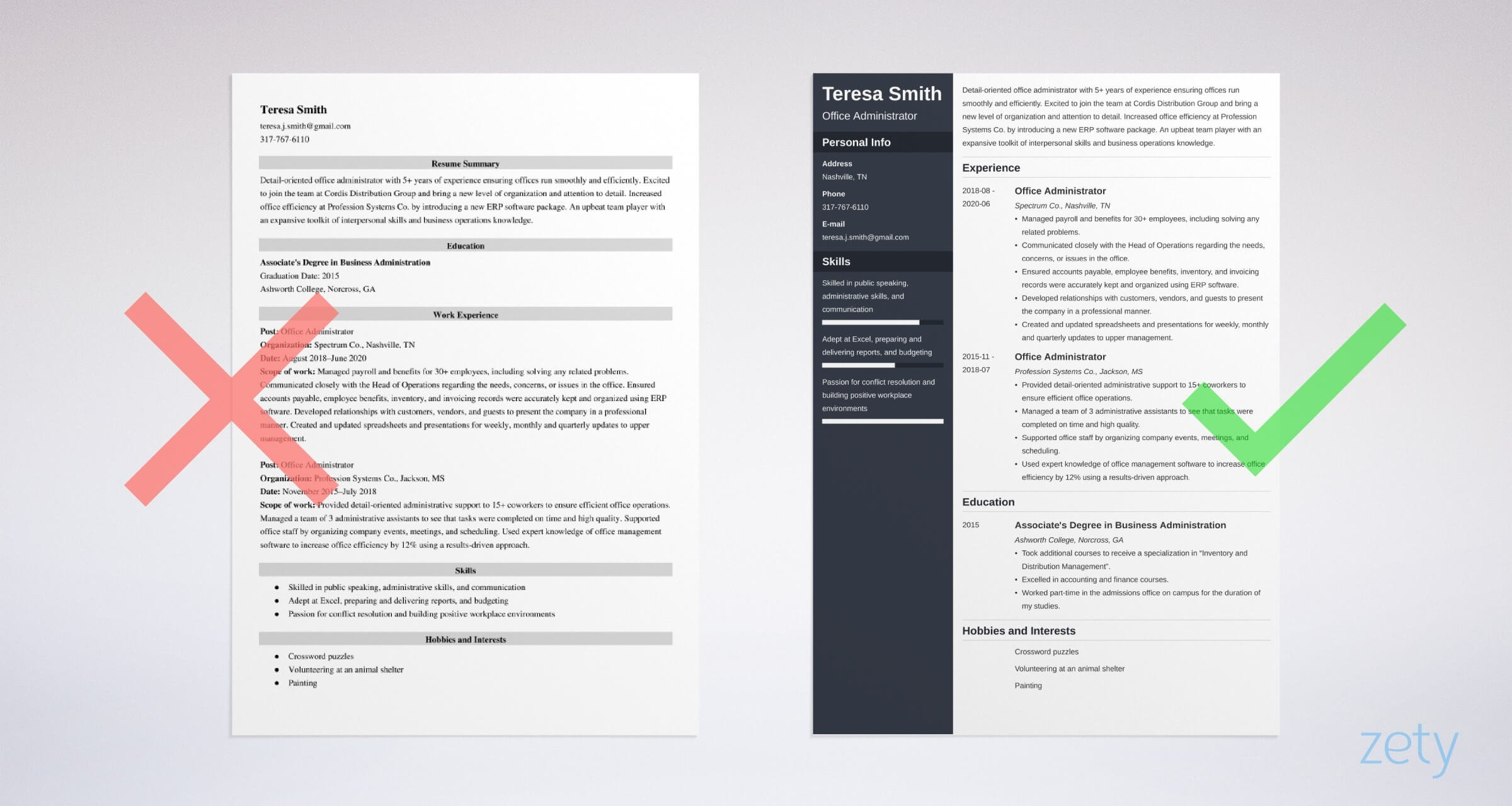 office administrator resume examples and guide tips doing business crossword example zety Resume Resume Doing Business Crossword