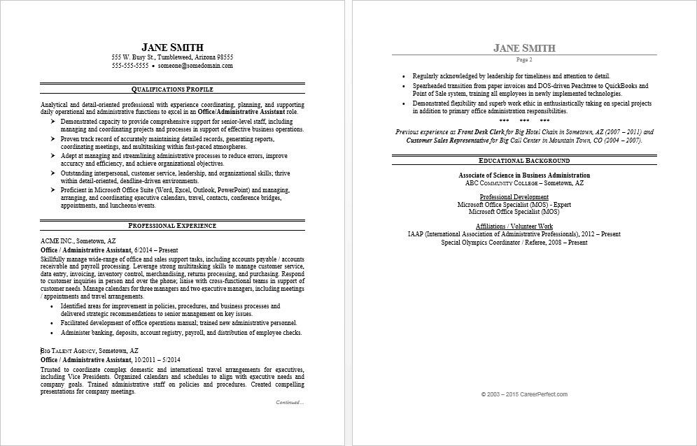 office assistant resume sample monster business administration examples format for bank Resume Business Administration Resume Examples