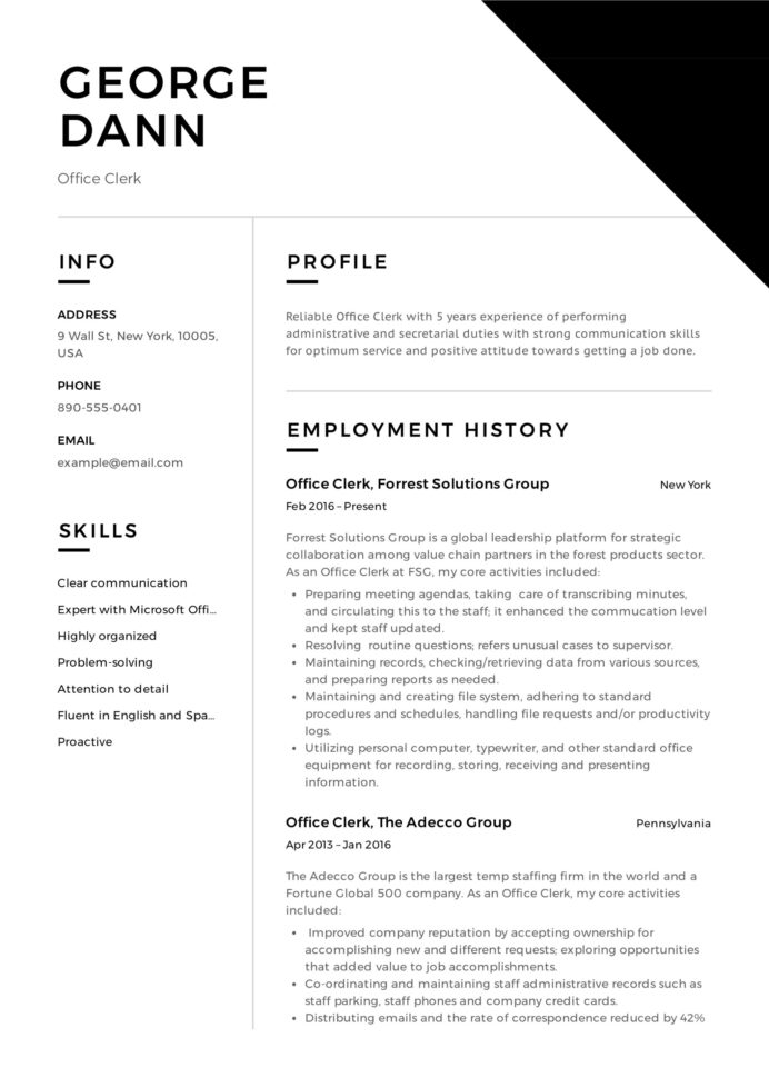 office clerk resume guide samples pdf objective for tidyforms law firm receptionist Resume Court Clerk Resume Objective Samples