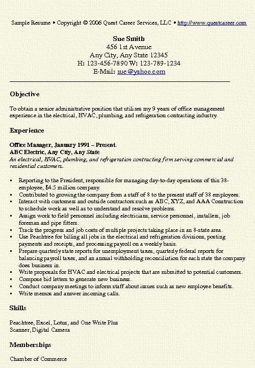 office manager resume example free professional document sample administrative9 project Resume Office Manager Resume Example