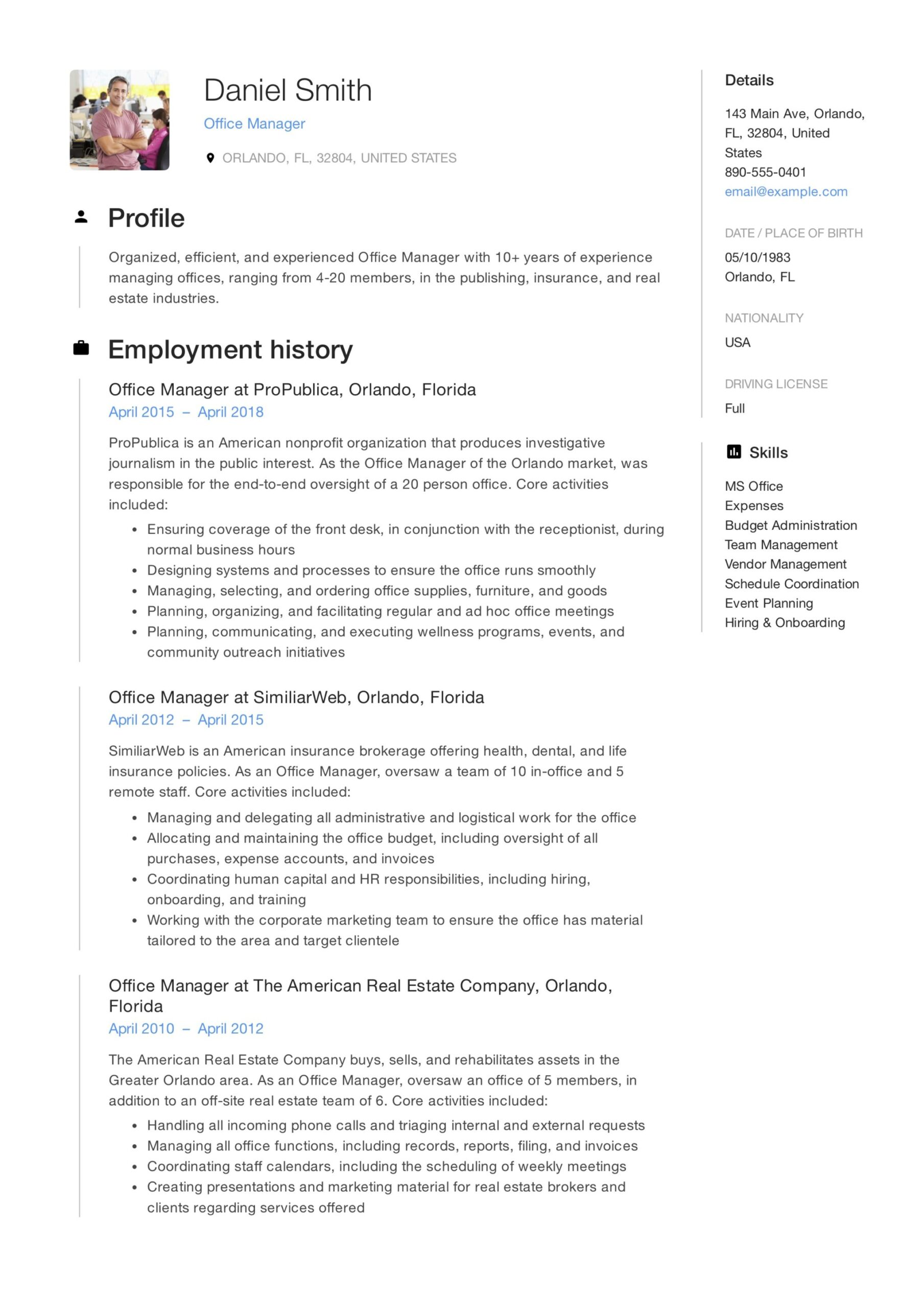 office manager resume guide samples pdf summary examples sample associate creative Resume Office Manager Resume Summary Examples